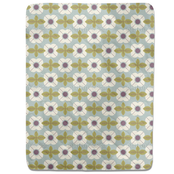 Flowers In Retro Style Fitted Sheets