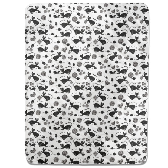 The Black Cat Mousy Fitted Sheets