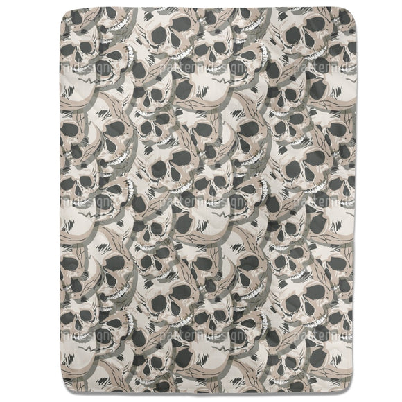The Skulls Of Kutna Hora Fitted Sheets