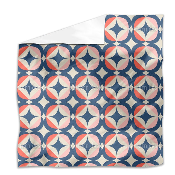 Retro Geometric Elements Flat Sheets