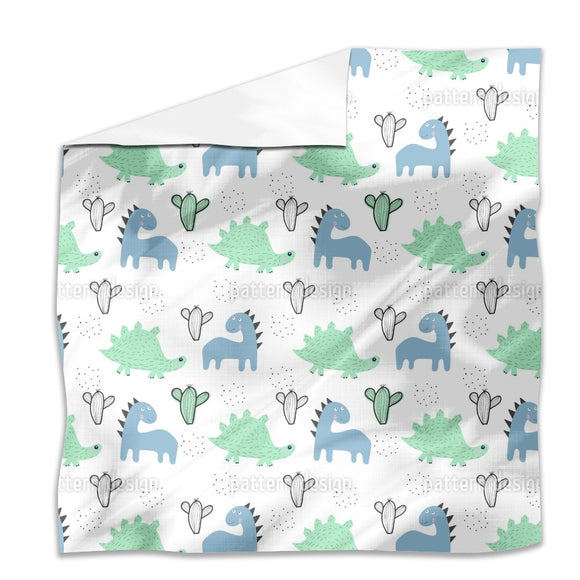 Dinosaurs And Cacti Flat Sheets