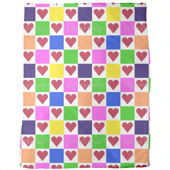 Square with Heart Blankets