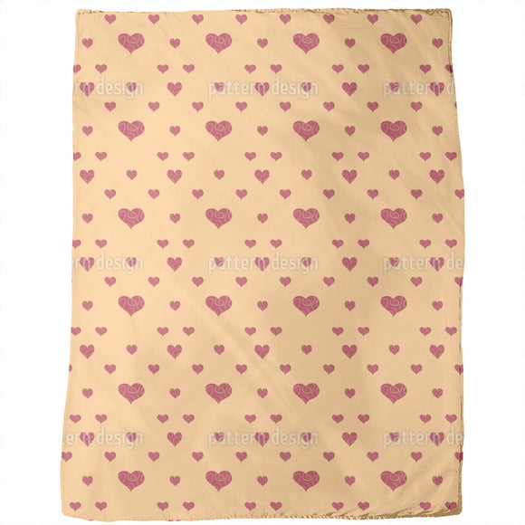 Commercial Hearts Blankets