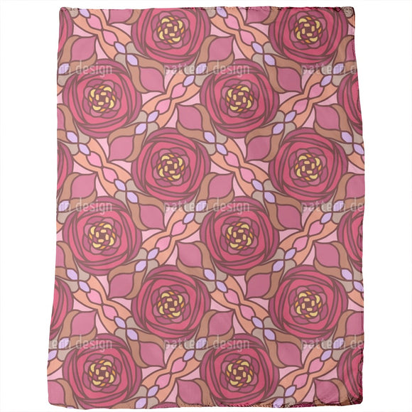 Stained Glass Roses Blankets