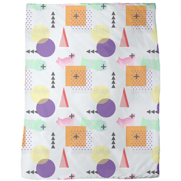 Memphis Geometry Lesson Blankets