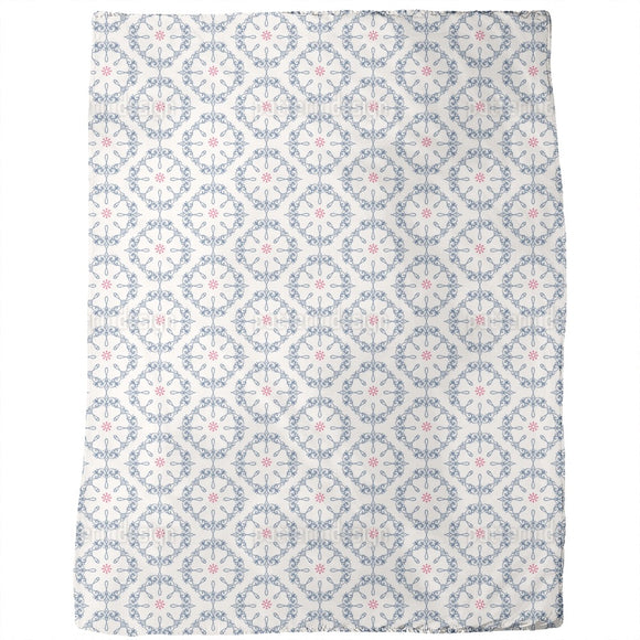 Symmetrical floral Ornaments Blankets