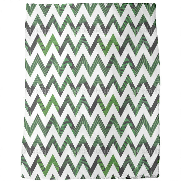Zig zag Palm Leaves Blankets
