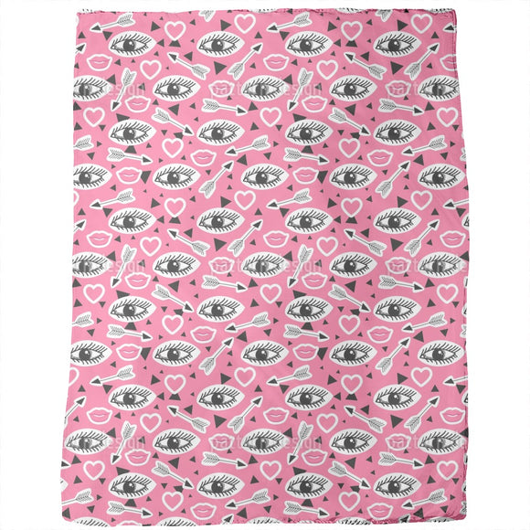 Lips and Eyes Blankets