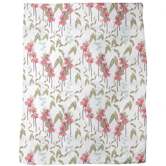 Lovely lilies flowers and leaves Blankets