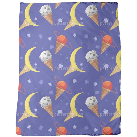 Planets of Waffles and Cones Blankets