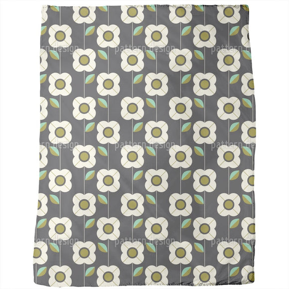 Retro Flowers And Leaves  Blankets