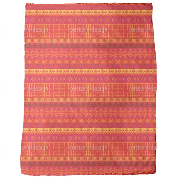 Embroidered African Motifs Blankets