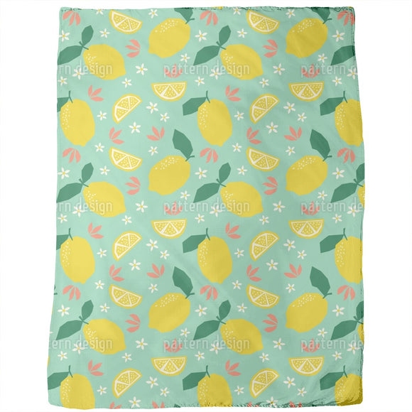 Lemons And Blossoms Blankets