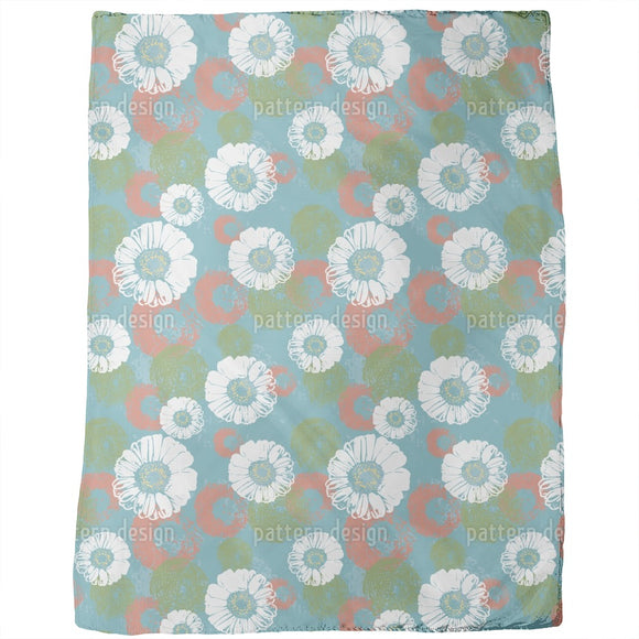 Stamped Blossoms Blankets