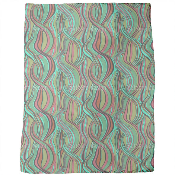 Hair Line Abstract Blankets
