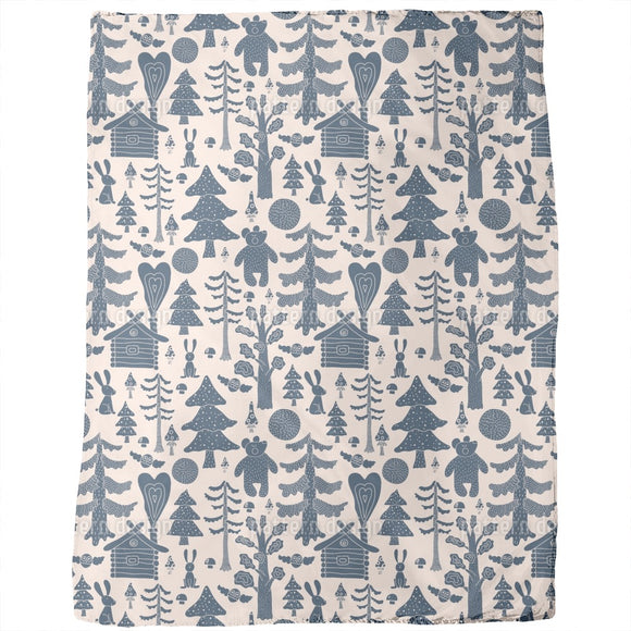 Mystical Fairytale Forest Blankets