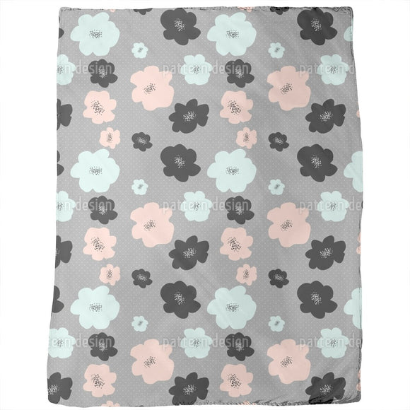 Mid Century Flowers Blankets