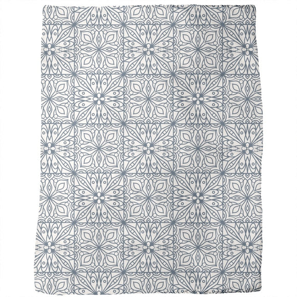 Abstract Floral Tiles Blankets