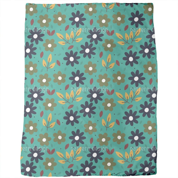 Graphical Floral Blankets