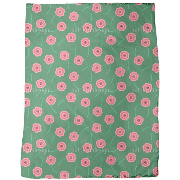 Cute Scattered Flowers Blankets