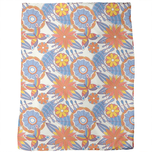 Summer Fresh Flower Gardens Blankets