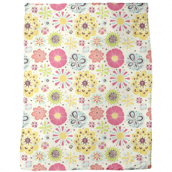 Summer Splash Floral Blankets