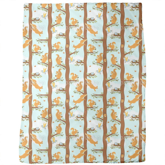Squirrel Party Blankets