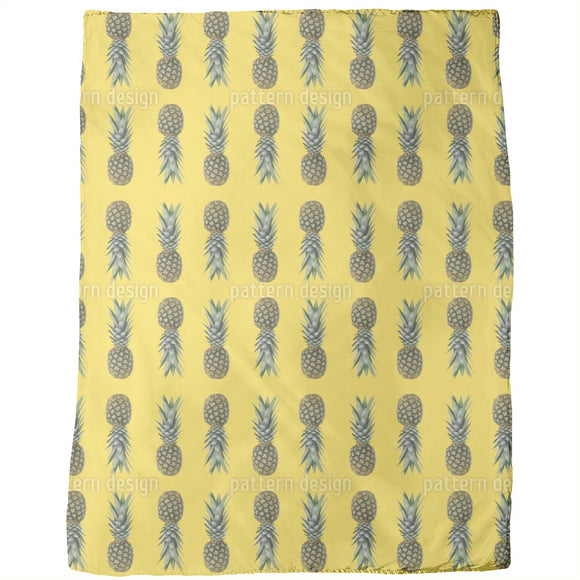 Pineapples From Brazil Blankets