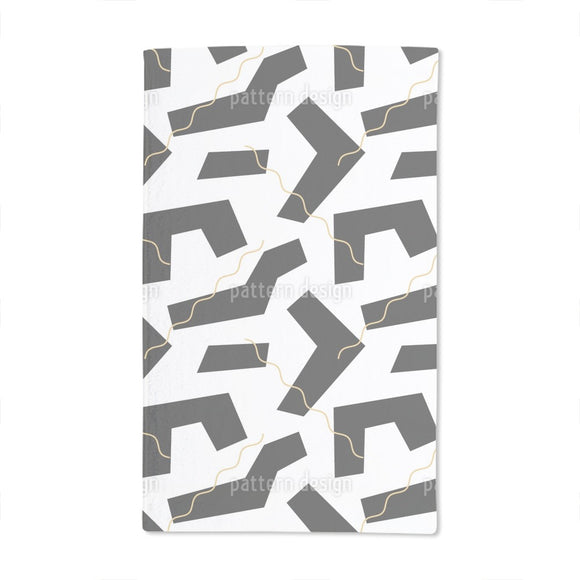 Strong Shapes Hand Towel