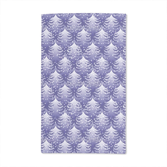 Cold Winter Wood Hand Towel