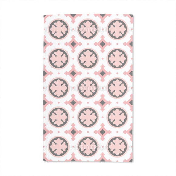 Stylized Leaf Tile Hand Towel