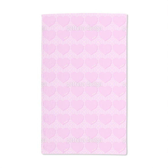 Angular Hearts Hand Towel