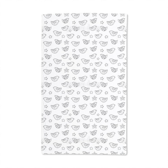Birds And Stars Hand Towel