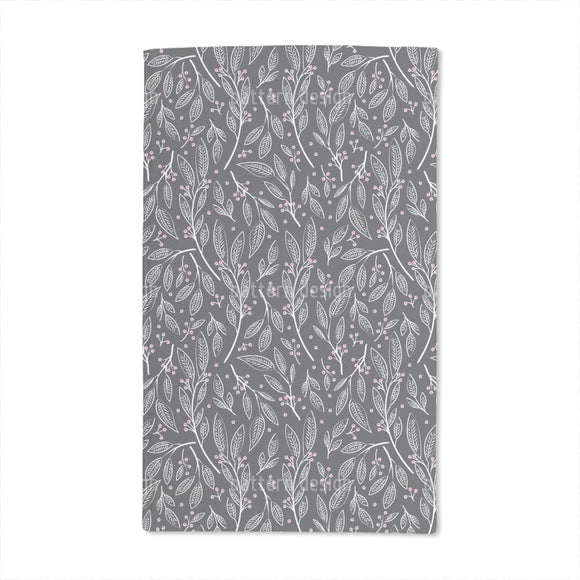 Delicate Berry Twigs Hand Towel
