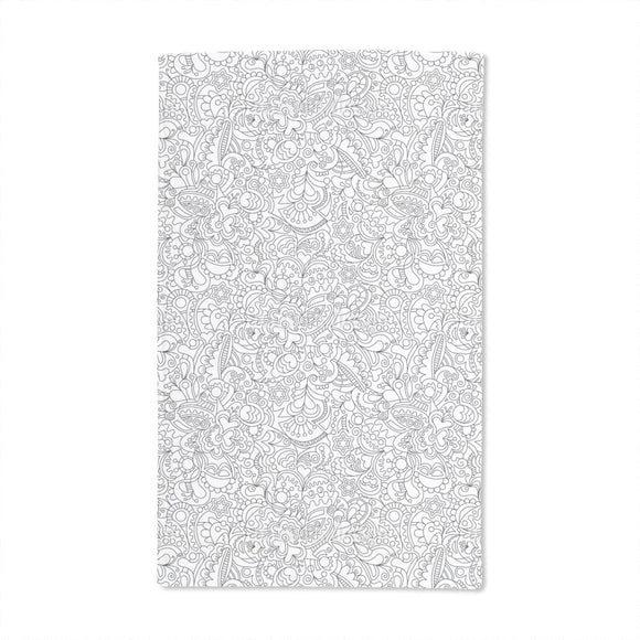 Floral Birth Hand Towel