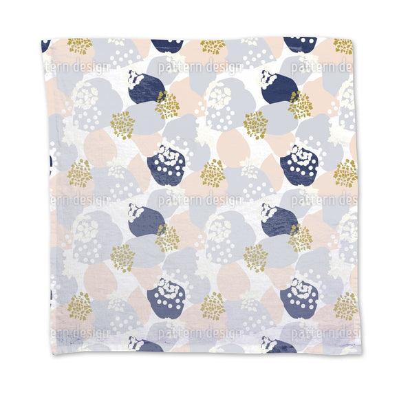 Abstract Hydrangea Flowers And Leaves Napkins