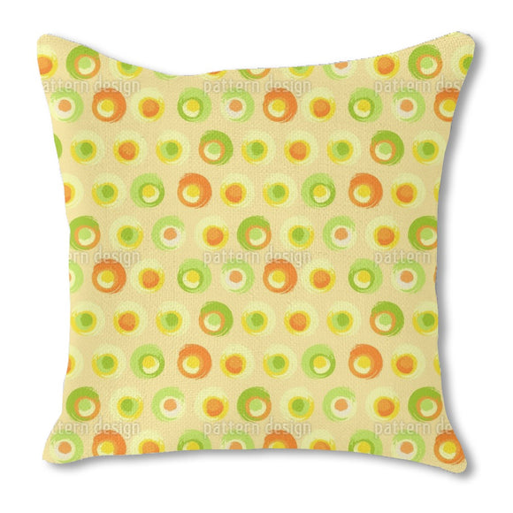 Sunny Grunge Circles Outdoor Pillows