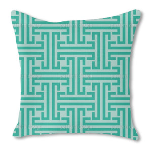 Emerald Labyrinth Outdoor Pillows