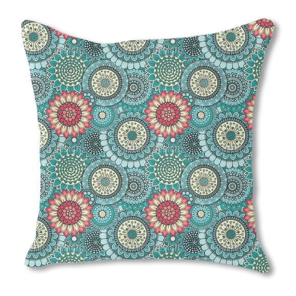 Overwhelming Flowers Outdoor Pillows