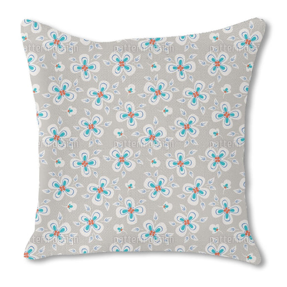 Flying Flowers Outdoor Pillows