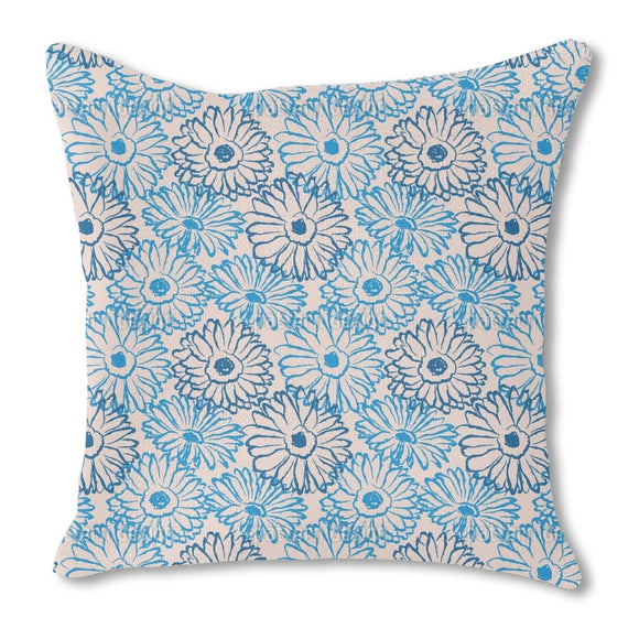 Hand Drawn Daisies Outdoor Pillows