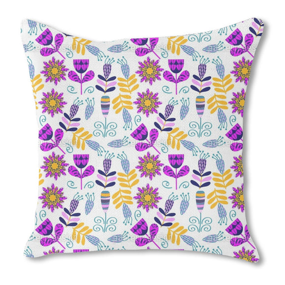 Cute Brigth Flowers Outdoor Pillows
