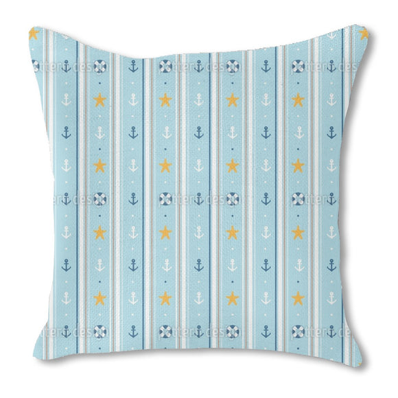 Nautical wallpaper Outdoor Pillows
