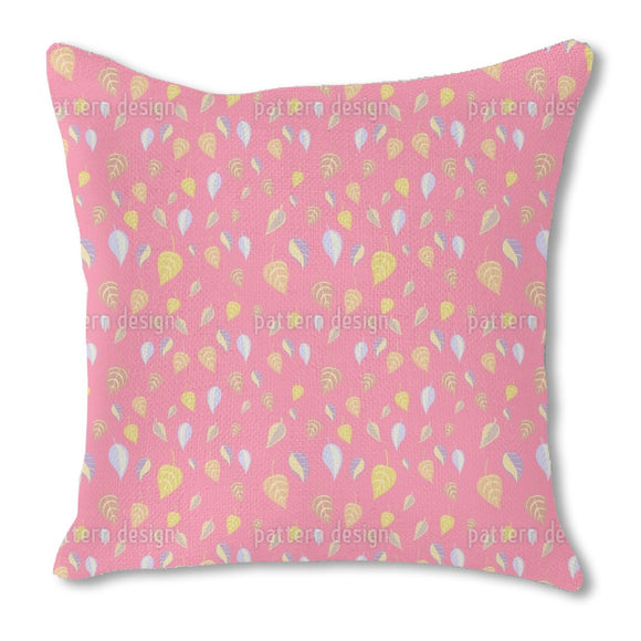 Girlish Leaves Outdoor Pillows