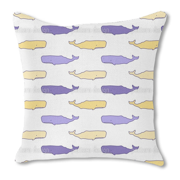 Cute Whales Outdoor Pillows