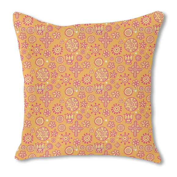 Happy Doodle Outdoor Pillows