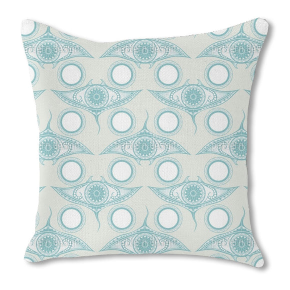 Eye Of The Ocean Outdoor Pillows