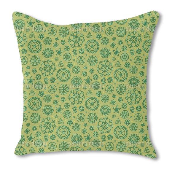Lovely Fantasy Flowers Outdoor Pillows