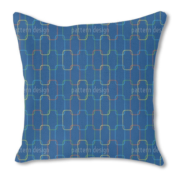 Geometric Chain Ornaments Outdoor Pillows