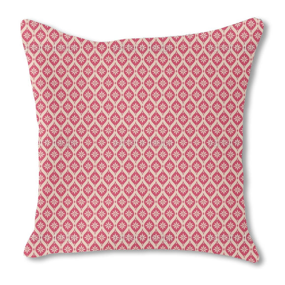 Vintage Snowflakes Mosaic Outdoor Pillows